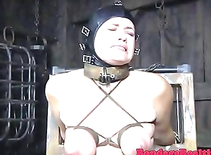 Spex submissive flogged by means of bondage
