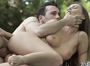 Anal babe acquires face semen