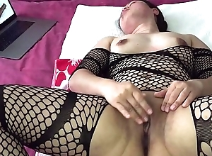 Oriental MILF - Slit Playing Dimension Watching Porn not far from Diabolical Nylons