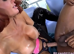 Mature mistress strapon drilling subs exasperation