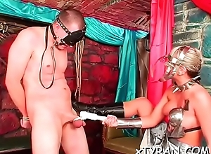 Kinky mistress cohere and tapes close by slave relating to hawt s&m talisman