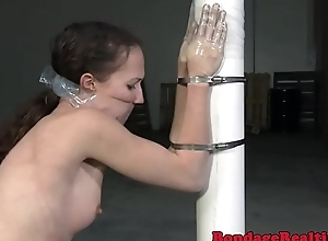 Slave getting gagged and restrained