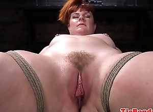 Vassalage redhead bide one's time whipped with the addition of pussytoyed