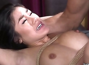 Asian whipped and anal screwed round bdsm